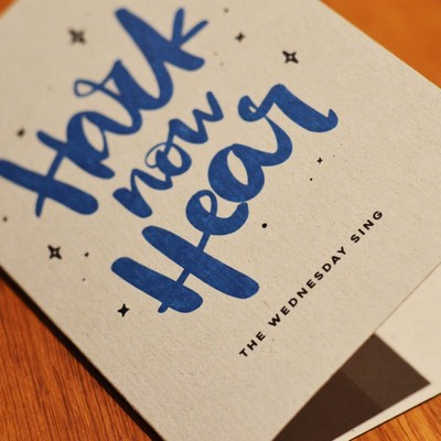 10 Pack Blue/White Xmas Cards