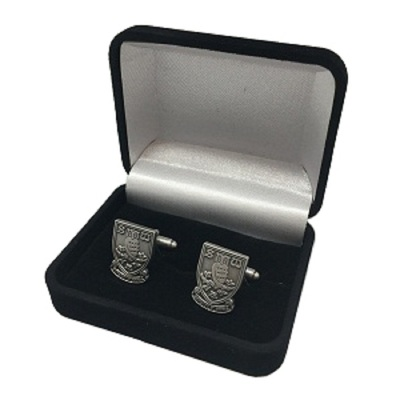 Crest Cufflinks AntiqueSilver
