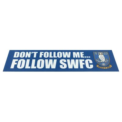 Dont Follow Me Window Sticker