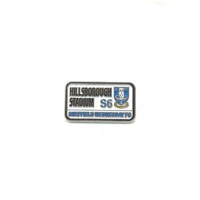 Street Sign Logo Pin Badge