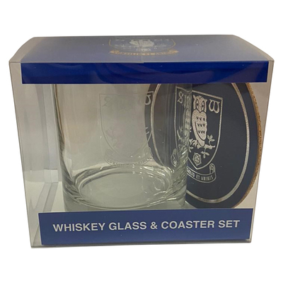 Whiskey Glass and Coaster Set