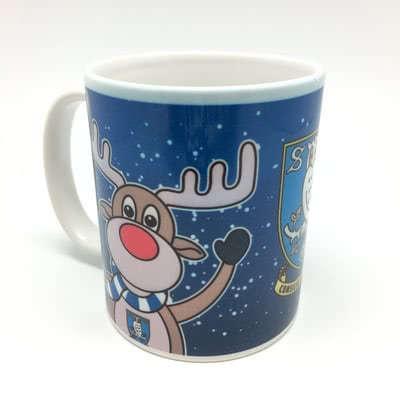 Rudolph and Santa Mug