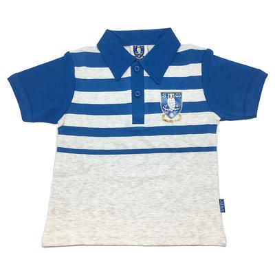 Boys Striped Crest Polo