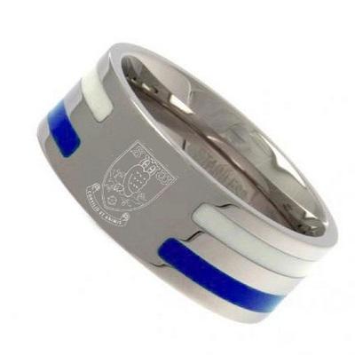 Colour Stripe Crest Band Ring